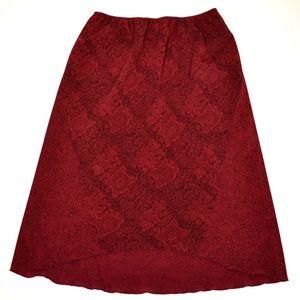 NORTON MCNAUGHTON Women's Midi Hi-Lo Skirt